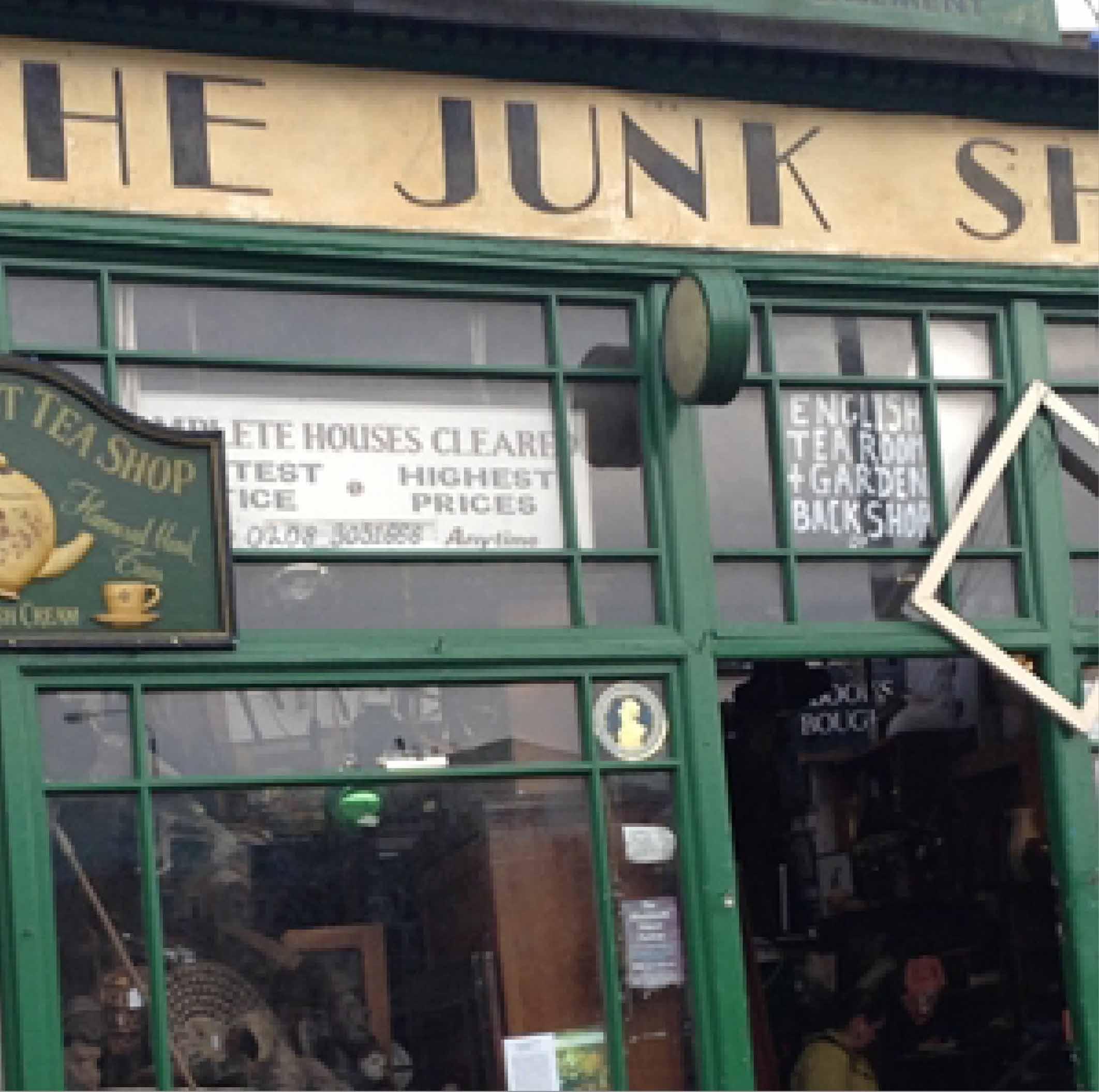 Junk Shop & Spreadeagle Antiques shop.